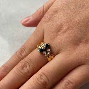 14kt Gold Sapphire and Diamond Ring from Ragnar